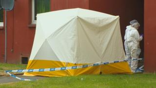 Tent at scene