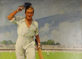 Cricketer in Imperial Tobacco advert