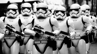 "Stormtrooers arrive at The Premiere of Walt Disney Pictures and Lucasfilm""s ""Star Wars: The Force Awakens"