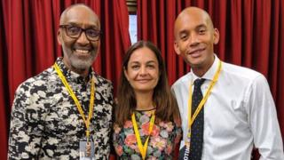 (L-R) Leroy Logan, Siobhan Benita and Chuka Umunna