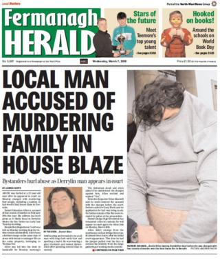 front page of the Fermanagh Herald Wednesday 7 March 2018
