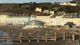 Aberystwyth in sunshine
