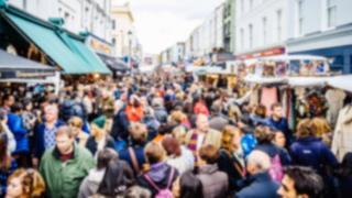 Crowded market