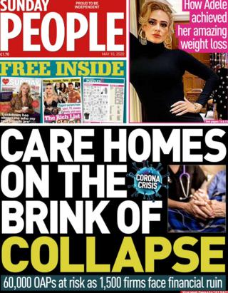 The Sunday People front 10 May