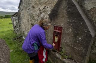 Opening the post box