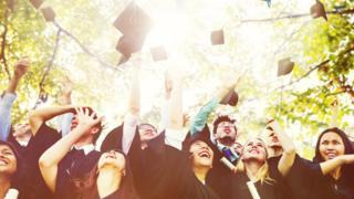 Diversity Students Graduation Success Celebration