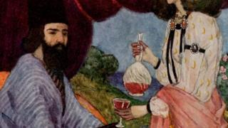 لوحة مرسومة تصور الشاعر أبو نواس