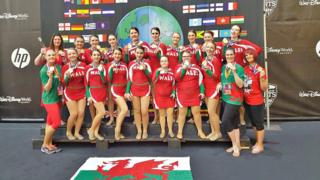 Welsh Paracheer Unified Freestyle Pom team