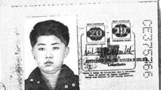 김정은의 것으로 추정되는 브라질 여권 사본