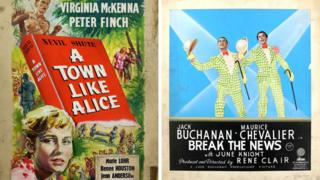 Posters for A Town like Alice (detail) and Break The News