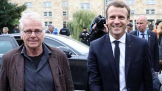 President Macron (R) with Daniel Cohn-Bendit, 10 Oct 17