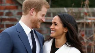 Prince Harry and Meghan Markle during an official photocall to announce their engagement