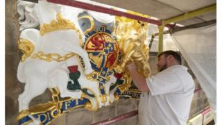 Coat of arms restored at Queen's 'local' church in Edinburgh