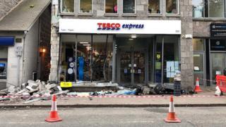 Tesco crash scene