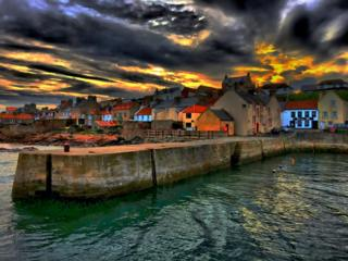 Cellardyke harbour in Fife
