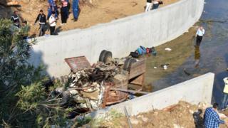 Road crash in Turkey