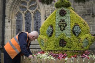 Durham Bishop's Mitre display in the Market Place