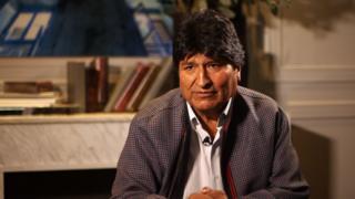 Evo Morales em entrevista à BBC News Mundo