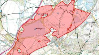 Map of the houses to be built in Marston Vale