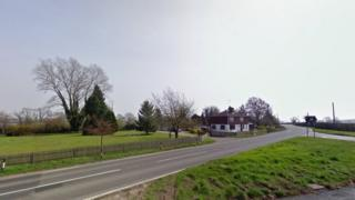 Near the site of the crash on the A229 at the junction of Maidstone Road