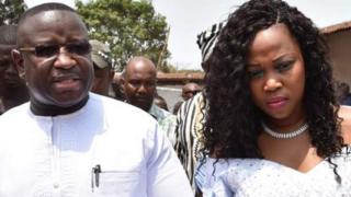 Julius Maada Biio and Fatima Bio