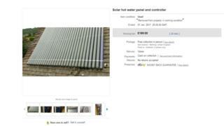 The solar panel listing on Ebay