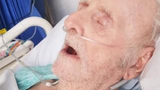 Mr Dunbar while in hospital
