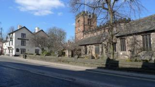 St Mary's Parish Church on High Street, Cheadle