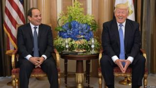 el Sisi and Trump