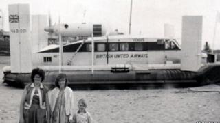 A hovercraft service ran between Rhyl and Wallasey in the 1960s