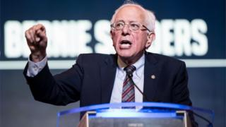 Democratic presidential candidate, Sen. Bernie Sanders (I-VT) speaks to the crowd during the 2019 South Carolina Democratic Party State Convention on June 22, 2019 in Columbia, South Carolina