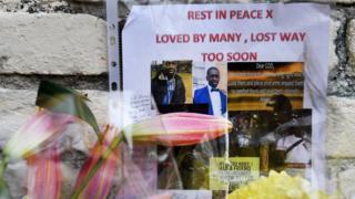 Tributes left to stabbing victim Israel Ogunsola