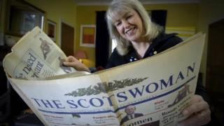 lesley riddoch with the Scotswoman