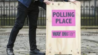 Polling station in Edinburgh