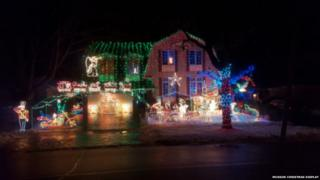 The Mussons' home decked out for Christmas