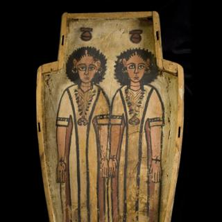 Double coffin from Thebes in Egypt