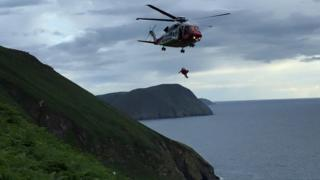 Helicopter rescue, Isle of Man