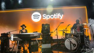 Musician D'Angelo plays at a Spotify event