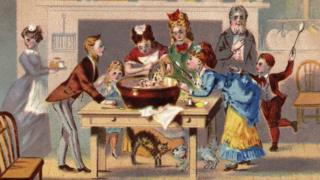 Victorian family at Christmas