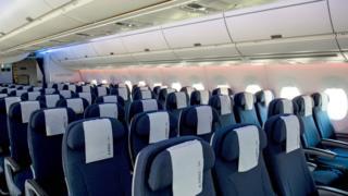 에어버스 A350의 기내 모습