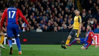 Kipindi cha pili Arsenal hawakupiga shuti lililolenga lango la Palace