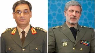 وزرای دفاع ایران و افغانستان