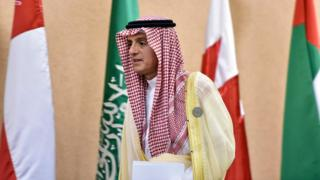 Adel al-Jubeir at news conference in Riyadh - 9 December