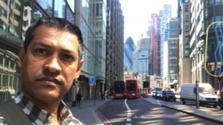 Iderval Silva em Londres