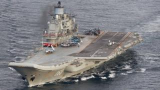 Admiral Kuznetsov off Norway, 17 Oct 16