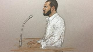 Khalid Ali giving evidence