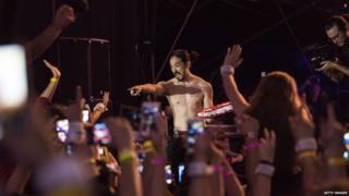 Steve Aoki at LA LIVE in June 2016