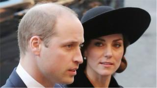 The Duke and Duchess of Cambridge arrive at Chester Cathedral
