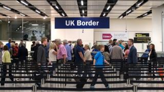 People at UK Border