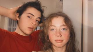 Owen Harding with his girlfriend Meg